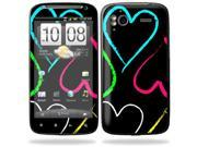 Mightyskins Protective Vinyl Skin Decal Cover for HTC Sensation 4G Cell Phone wrap sticker skins  - Hearts