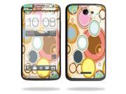 Mightyskins Protective Vinyl Skin Decal Cover for HTC One X 4G AT&T Cell Phone wrap sticker skins Bubble Gum
