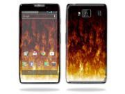 Mightyskins Protective Skin Decal Cover for Motorola Droid Razr Hd & Razr Maxx HD Cell Phone wrap sticker skins Firestorm
