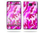 Mightyskins Protective Vinyl Skin Decal Cover for Motorola Droid Razr Maxx Android Smart Cell Phone wrap sticker skins - Pink Camo