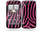 Mightyskins Protective Vinyl Skin Decal Cover for HTC Sensation 4G Cell Phone wrap sticker skins  - Zebra Pink