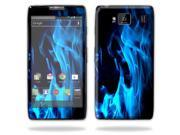 Mightyskins Protective Skin Decal Cover for Motorola Droid Razr Hd & Razr Maxx HD Cell Phone wrap sticker skins Blue Flames