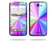 Mightyskins Protective Vinyl Skin Decal Cover for HTC One X 4G AT&T Cell Phone wrap sticker skins Rainbow Zoom