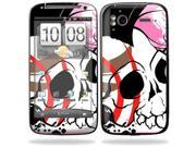 Mightyskins Protective Vinyl Skin Decal Cover for HTC Sensation 4G Cell Phone wrap sticker skins  - Skull Hawk