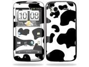 Mightyskins Protective Vinyl Skin Decal Cover for HTC Sensation 4G Cell Phone wrap sticker skins  - Cow Print