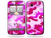 Mightyskins Protective Vinyl Skin Decal Cover for HTC Sensation 4G Cell Phone wrap sticker skins  - Pink Camo