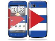 Mightyskins Protective Vinyl Skin Decal Cover for HTC Sensation 4G Cell Phone wrap sticker skins  - Cuban flag