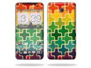 Mightyskins Protective Skin Decal Cover for HTC Droid DNA or HTC J Cell Phone Verizon wrap sticker skins Color Swatch
