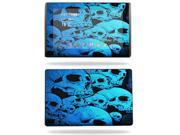 MightySkins Protective Vinyl Skin Decal Cover for Asus Eee Pad Transformer TF101 sticker skins Blue Skulls