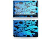 """Mightyskins Protective Skin Decal Cover for Samsung Galaxy Note 10.1"""" inch Tablet wrap sticker skins Blue Skulls"""