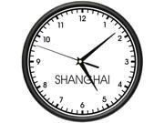 SHANGHAI TIME Wall Clock world time zone clock office business