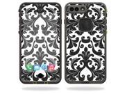 Skin Decal Wrap for Lifeproof iPhone 7 Plus Case fre sticker Black Damask