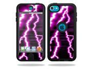 Skin Decal Wrap for OtterBox Defender iPod Touch 5G Case Purple Lightning