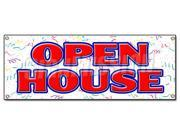 OPEN HOUSE BANNER SIGN for sale broker apartment home house real estate agent (9SIA4431BZ0112 766897885303 SignMission) photo