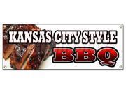 KANSAS CITY STYLE BBQ BANNER SIGN beef brisket ribs pork barbque open 9SIA4433428213