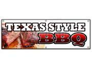 "72"""" TEXAS STYLE BBQ BANNER SIGN beef brisket ribs pork bar b que open"" 9SIA4433440917"