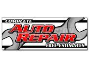 "12"""" COMPLETE AUTO REPAIR FREE ESTIMATES DECAL sticker cars a/c brakes muffler"" 9SIA4433498438"