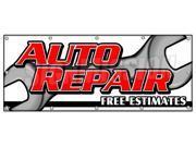 """48""""""""x120"""""""" AUTO REPAIR FREE ESTIMATES BANNER SIGN cars a/c brake muffler tire acsi"""" 9SIA44334A0125"""