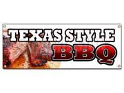 TEXAS STYLE BBQ BANNER SIGN beef brisket ribs pork bar b que open 9SIA4433428026