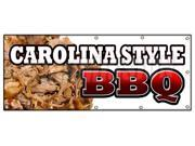 "48""""x120"""" CAROLINA STYLE BBQ BANNER SIGN beef brisket ribs pork barbque open"" 9SIA4433498080"