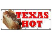 "48""""x120"""" TEXAS HOT BANNER SIGN weiner hot dog sign franks"" 9SIA4431BY2610"