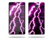 Skin Decal Wrap for Samsung Galaxy Note 4 cover sticker Purple Lightning