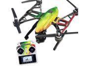Skin Decal Wrap for Yuneec Q500 & Q500+ Drone Rasta Rainbow