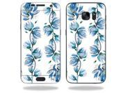 Skin Decal Wrap for Samsung Galaxy S7 Edge Case Blue Vines