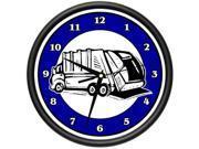 TRASH MAN Wall Clock garbage trash trash collector garbage truck gag gift 9SIA4433SA1957