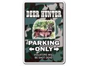 DEER HUNTER Sign parking whitetail gun hunting cap gift shotgun rifle decoys thumbnail