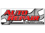 "12"""" AUTO REPAIR FREE ESTIMATES DECAL sticker cars a/c brake muffler tire acsi"" 9SIA4433498548"