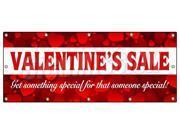 "48""x120"" VALENTINE'S DAY SALE BANNER SIGN sale holiday valentine romantic love"