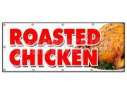 "48""""x120"""" ROASTED CHICKEN BANNER SIGN dinner take out carry restaurant food"" 9SIA44334A0199"