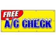 "36""""x96"""" FREE A/C CHECK BANNER SIGN air conditioning diagnosis repair freon cold"" 9SIA4431BZ2462"