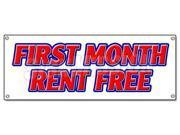 FIRST MONTH RENT FREE BANNER SIGN apartment promotion rent lease condo townhouse (9SIA4431KC2557 682017687285 SignMission) photo
