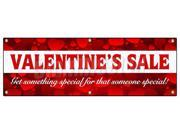 "72"" VALENTINE'S DAY SALE BANNER SIGN sale holiday valentine romantic love"