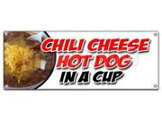CHILI CHEESE HOT DOG IN A CUP BANNER SIGN all beef franks snack food 9SIA4433428335