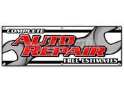 "72"""" COMPLETE AUTO REPAIR FREE ESTIMATES BANNER SIGN cars a/c brakes muffler"" 9SIA4433440582"