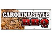 "36""""x96"""" CAROLINA STYLE BBQ BANNER SIGN beef brisket ribs pork barbque open"" 9SIA4433440399"