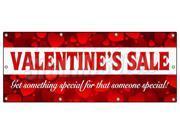"36""x96"" VALENTINE'S DAY SALE BANNER SIGN sale holiday valentine romantic love"
