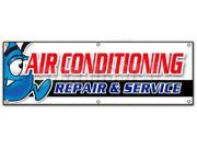 "72"""" AC REPAIR & SERVICE BANNER SIGN hvac air conditioning estimates finance"" 9SIA4433441062"