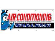 "36""""x96"""" AC REPAIR & SERVICE BANNER SIGN hvac air conditioning estimates finance"" 9SIA4433440431"
