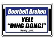 """Doorbell Broken Yell """"""""Ding Dong"""""""" Really Loud [3 pack] of Vinyl stickers 3.3"""""""" X 5"""""""""""" 9SIA4436M36584"""