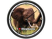 ELEPHANT Wall Clock elephants animal zoo african gift 9SIA4431XT4952