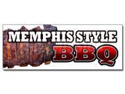 "48"""" MEMPHIS STYLE BBQ DECAL sticker beef brisket ribs pork barbque open eat"" 9SIA4433498340"