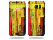 Skin Decal Wrap for Samsung Galaxy S7 wrap cover sticker Painted Wood