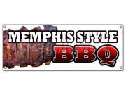 MEMPHIS STYLE BBQ BANNER SIGN beef brisket ribs pork barbque open eat 9SIA4433428007