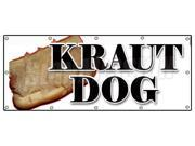 "48""""x120"""" KRAUT DOG BANNER SIGN weiner sauerkraut hot dog frank chili"" 9SIA4431BX6956"