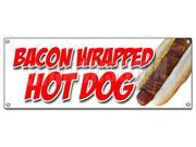 BACON WRAPPED HOT DOG BANNER SIGN texas tommy cheese deep fried stick 9SIA4433428148