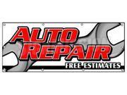 """36""""""""x96"""""""" AUTO REPAIR FREE ESTIMATES BANNER SIGN cars a/c brake muffler tire acsi"""" 9SIA4433441223"""